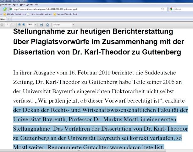 Die rennomierte Bayerische CSUniversität Bayreuth
