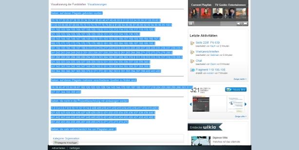 Fundstellenliste der Guttenberg-Plagiate bei GuttenPlag Wiki