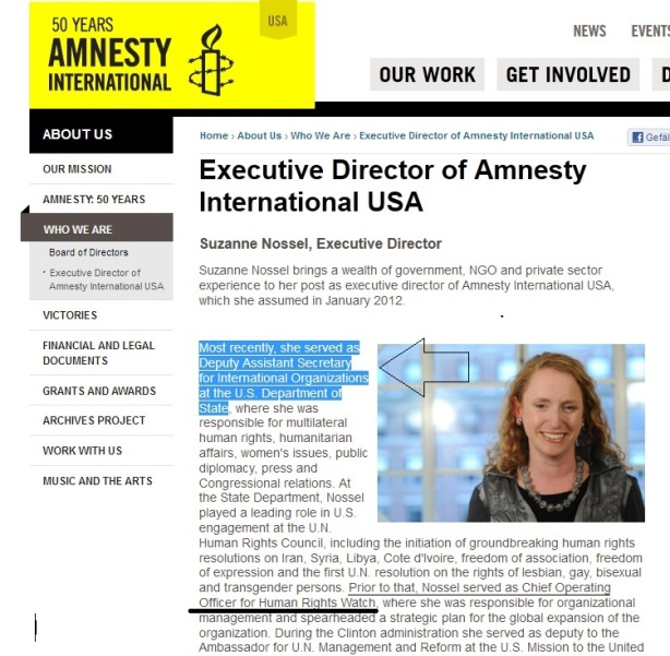 Amnesty+HRW controlled by USAgovernment since years