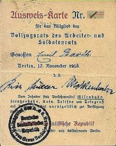 Deutsche Sozialistische Republik 1918