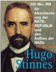 Stinnes Initiator des Antibolschewistenfonds der deutschen Wirtschaft 10Jan1919
